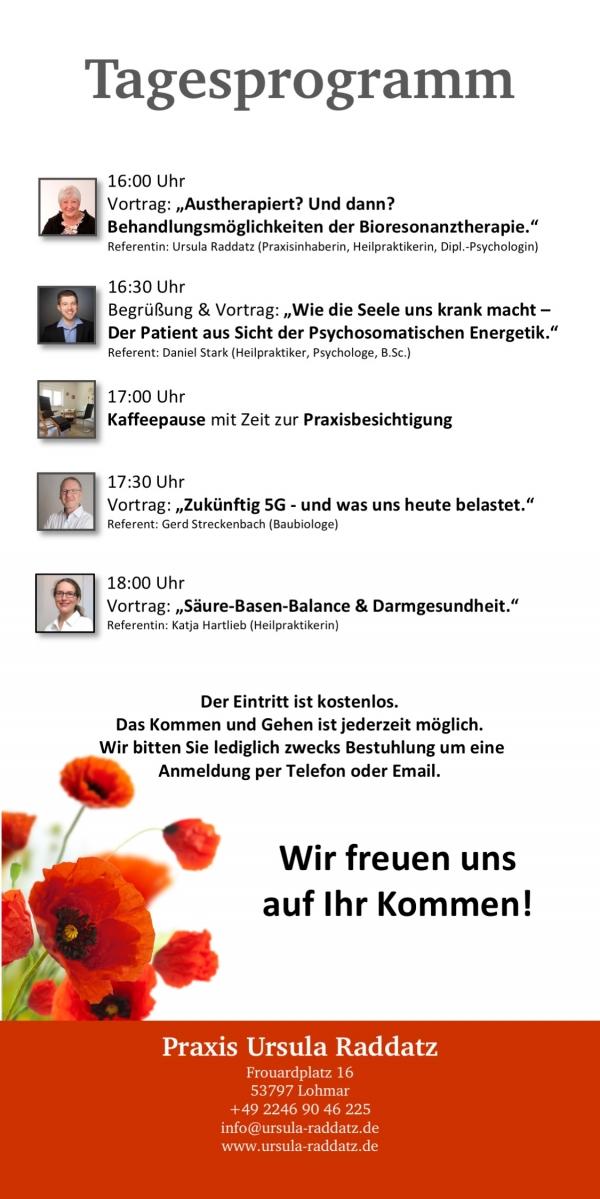Vortrag von Katja Hartlieb zum Thema Darmgesundheit und Säure Basen Balance Lohmar Praxis Ursula Raddatz